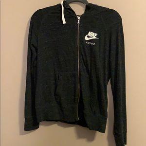 Women's Nike grey zip-up hoodie sz: medium
